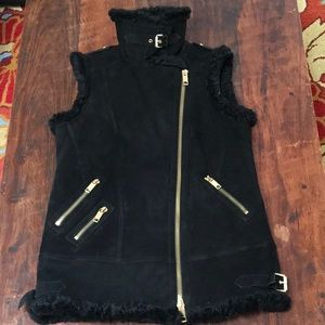 Authentic Burberry Brentdale Shearling Gilet Vest